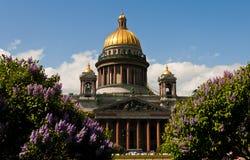 De Kathedraal van heilige Isaac, St. Petersburg Stock Foto's