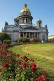 De kathedraal van heilige Isaac in St. Petersburg, architect Auguste de Montferrand Stock Foto's