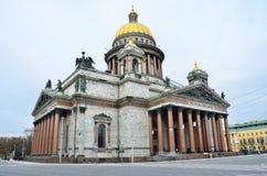 De Kathedraal van heilige Isaac in St Petersburg Rusland Stock Foto