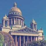 De Kathedraal van heilige Isaac in St Petersburg Rusland Stock Foto's