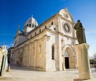 De kathedraal van St James in Sibenik Royalty-vrije Stock Fotografie