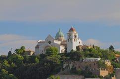 De kathedraal van heilige Kiriak Ancona, Italië stock foto's