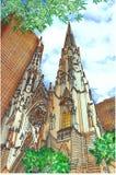 De kathedraal van heilige Patrick vector illustratie
