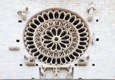 De Kathedraal van Heilige Rufino, Assisi, Italië Stock Foto's