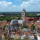 De Kathedraal van heilige Salvator in Brugge, België Stock Fotografie