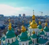 De Kathedraal van heilige Sophia in Kiev Stock Afbeeldingen