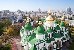De Kathedraal van heilige Sophia in Kiev Stock Foto's