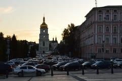De Kathedraal van heilige Sophia ` s, Kiev in de avond Stock Fotografie