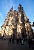 De Kathedraal van heilige Vitus in Praag Stock Afbeeldingen