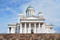 De Kathedraal van Helsinki stock afbeeldingen