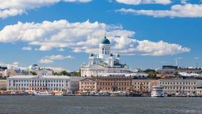 De Kathedraal van Helsinki en Marktvierkant Stock Foto's