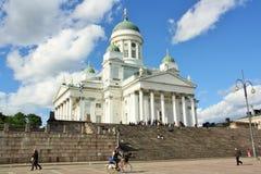 De kathedraal van Helsinki, Finland Stock Afbeelding