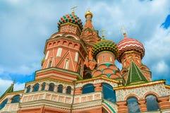 De Kathedraal van het Basilicum van heilige bij Rood Vierkant in Moskou Royalty-vrije Stock Fotografie