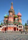 De Kathedraal van het Basilicum van heilige bij Rood Vierkant in Moskou Stock Foto's