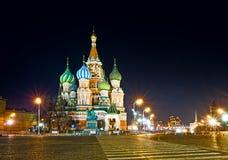 De Kathedraal van het Basilicum van heilige in Moskou Stock Fotografie