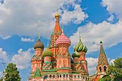 De Kathedraal van het Basilicum van heilige in Moskou Stock Foto's