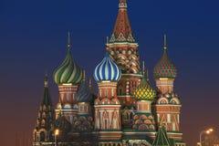 De Kathedraal van het Basilicum van heilige in Moskou Stock Afbeelding