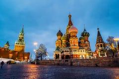 De Kathedraal van het Basilicum van heilige in Moskou Royalty-vrije Stock Afbeelding