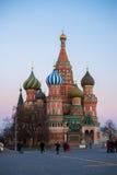 De kathedraal van het Basilicum van heilige in Moskou, Rusland Stock Foto's