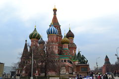 De Kathedraal van het Basilicum van heilige Moskou - Rusland Royalty-vrije Stock Afbeelding