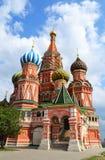 De Kathedraal van het Basilicum van heilige op Rood vierkant Royalty-vrije Stock Foto's