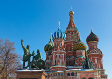 De Kathedraal van het Basilicum van heilige op Rood vierkant, Moskou Royalty-vrije Stock Afbeeldingen
