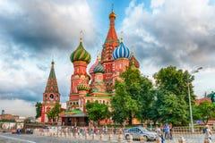 De Kathedraal van het Basilicum van heilige op Rood Vierkant in Moskou, Rusland Royalty-vrije Stock Foto's
