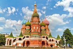 De Kathedraal van het Basilicum van heilige, Rood Vierkant, Moskou, Rusland stock afbeelding