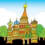 De Kathedraal van het Basilicum van heilige Rusland, Moskou Stock Foto