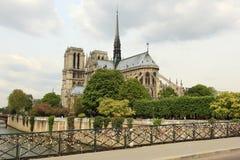 De kathedraal van het Notre Dame de Paris Stock Afbeeldingen