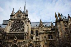 De kathedraal van het Notre Dame de Paris Parijs, Frankrijk stock foto