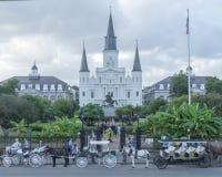 De Kathedraal van het Saint Louis, New Orleans Stock Afbeeldingen