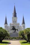 De Kathedraal van het Saint Louis in New Orleans, Louisiane. royalty-vrije stock foto's