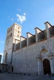 De kathedraal van Ibiza Stock Fotografie