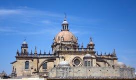 De Kathedraal van Jerez in Andalusia, Spanje stock afbeeldingen
