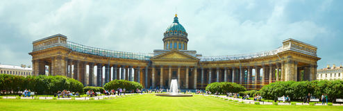 De kathedraal van Kazansky - St. Petersburg Royalty-vrije Stock Foto