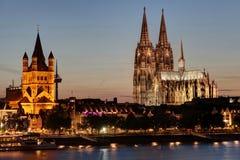 De Kathedraal van Keulen Stock Foto