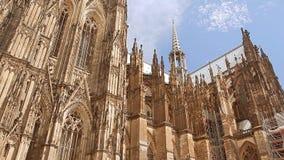 De Kathedraal van Keulen in Duitsland stock video