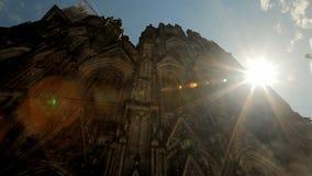 De Kathedraal van Keulen in Duitsland stock videobeelden