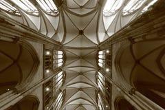 De Kathedraal van Keulen - DUITSLAND - Aartsbisdom van Cologn - Sepia Ontploffing - Architectuur - DUITSLAND royalty-vrije stock foto's