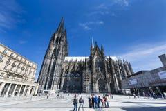 De Kathedraal van Keulen, Duitsland, redactie Stock Foto's
