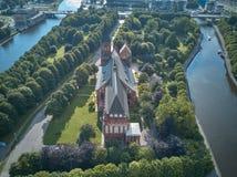De Kathedraal van Konigsberg Kaliningrad, vroeger Koenigsberg, Rusland royalty-vrije stock foto