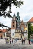 De Kathedraal van Krakau Stock Afbeeldingen