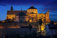 De Kathedraal van La Mesquita bij zonsondergang Stock Afbeeldingen