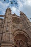 De kathedraal van La Seu, Palma de Mallorca stock foto's