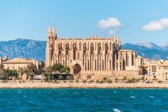 De kathedraal van La Seu, Palma de Mallorca Stock Foto