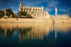 De Kathedraal van La Seu in Palma DE Mallorca Royalty-vrije Stock Afbeelding