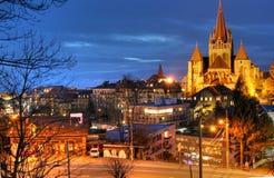De Kathedraal van Lausanne Stock Afbeeldingen