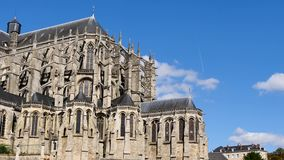 De Kathedraal van Le Mans, Frankrijk stock footage