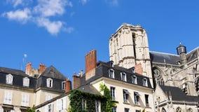De Kathedraal van Le Mans, Frankrijk stock videobeelden